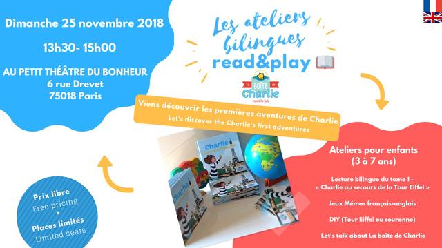 Les ateliers bilingues Read&Play – 25/11/2018
